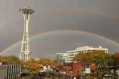 Did you see today's double rainbow?     Our Executive Producer Amber Eikel took this picture from the 3rd floor of our building.