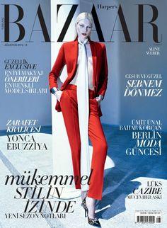 Aline Weber by Koray Birand for Harper's Bazaar Turkey August 2012