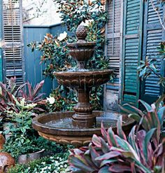 New Orleans courtyard fountain