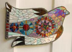 Mosaic Bird by FreshwaterMosaics on Etsy