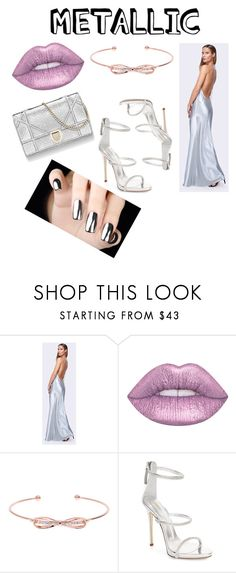 """""""Metallic"""" by straykitten02 ❤ liked on Polyvore featuring Fame & Partners, Ted Baker and Giuseppe Zanotti"""