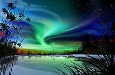 Northern Lights Wallpaper HD wallpaper background