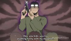 Anime/manga: Fullmetal Alchimst (Brotherhood) Character: Hughes ( 5 year old daughter), I will truly miss him...