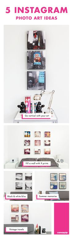 Easily turn your Instagram Photos into fun art walls on canvas. Fun, affordable and personal.