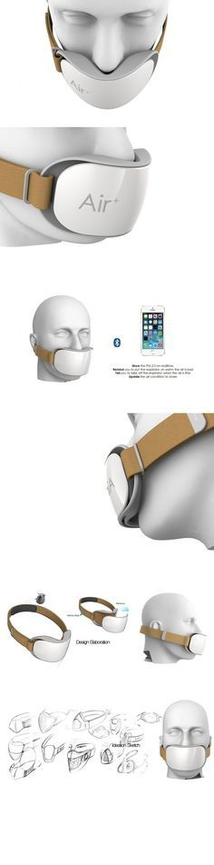 portable air mask--------------This is a genius invention for prevention of the effect of pollution on our lungs. This seems like such a great thing but where will this go to die? Technology Design, Cool Technology, Wearable Technology, Technology Gadgets, Gadgets And Gizmos, Tech Gadgets, Charles Ray Eames, Materiel Camping, Future Gadgets