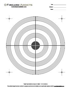 Free Printable Shooting Targets | Firearm Addicts - Forum for Gun Enthusiasts