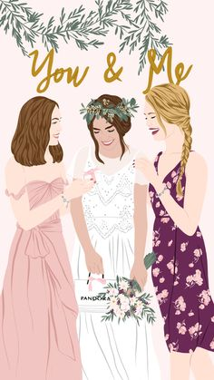 Collaboration with PANDORA creating illustrations inspired in the Bridal and Birthday collections for digital channels . Best Friend Drawings, Bff Drawings, Pop Art, Illustration Art Drawing, Guache, Feminist Art, Aesthetic Art, Illustrations Posters, Cute Art