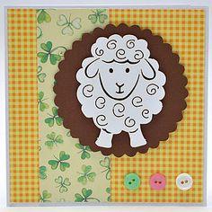 Výřez ovečka velká, 12 ks Paper Board, Spinning