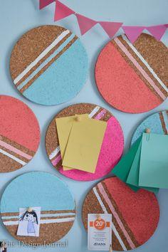 colorful cork bulletin board