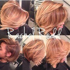 Rachel Redd Color blonde bob
