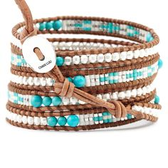 Chan Luu - Turquoise Silver Mix Wrap Bracelet on Natural Brown Leather, $245.00 (http://www.chanluu.com/wrap-bracelets/turquoise-silver-mix-wrap-bracelet-on-natural-brown-leather/)