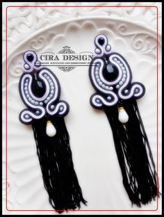 Soutache earrings by Cira Design Soutache.
