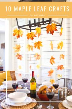 DIY Thanksgiving decor ideas: Hosting a Thanksgiving dinner requires a lot of planning, time and—let's be real—money. Thankfully, DIY decor makes it easy to cut your bill in half. Here, 17 genuinely chic DIY decor projects to try this season. Thanksgiving Crafts For Kids, Thanksgiving Table Settings, Thanksgiving Centerpieces, Fall Crafts, Holiday Crafts, Thanksgiving Holiday, Leaf Crafts, Kids Crafts, Decor Crafts