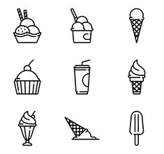 706 icon packs of summer Cute Food Drawings, Cute Kawaii Drawings, Art Drawings For Kids, Easy Drawings, Ice Cream Tattoo, Ice Cream Logo, Notebook Doodles, Doodle Art Journals, Cute Ice Cream Drawing