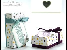 Mini Pretty Box Tutorial using Stampin' Up! Moonlight DSP Stack | Stampin' Up! UK #1 Demonstrator Sam Donald