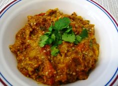 eggplant-tomato chutney