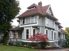 OldHouses.com - 1870 Victorian: Queen Anne - 1870 Historic Queen Anne Victorian On South St in Auburn, New York