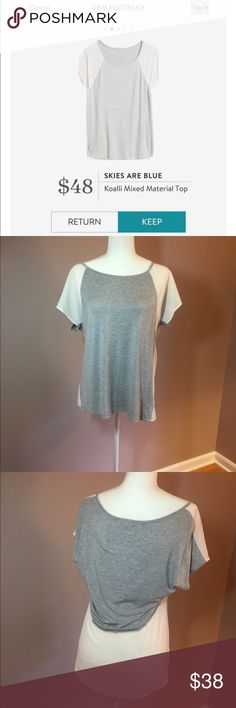Stitch Fix - Skies Are Blue mixed material top Stitch Fix - Skies Are Blue mixed material top EUC - size medium Skies Are Blue Tops Blouses