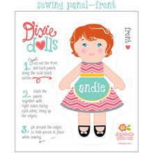 Dixie Doll - Ready-To-Sew Panel, completely customizable!