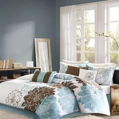 Home Essence Farrah 7-Piece Print Bedding Comforter Set