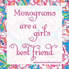 Monograms are a girl's best friend!! #personalized #mintedandmine #thegiftinsider