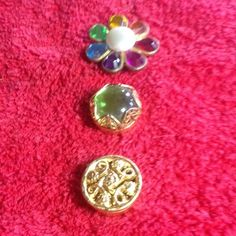 Vintage Button Covers Vintage button covers stamped NONY New York. Change any outfit by using one of these to cover a button. Set of 3. No trades Vintage Accessories