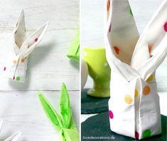 Servietten Häschen // Napkin Folded As A Bunny