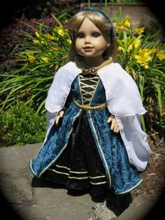 American Girl Medieval Renaissance Princess by RainbowLilyDesigns, $65.00