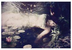 Ophelia Inspired Print, Sleep to Dream, 8x12  Inch Print, FairyTale Art Print