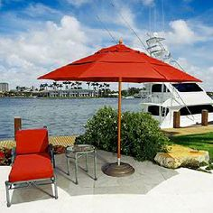 FiberBuilt Augusta 9u0027 Octagonal Umbrella · Patio Umbrellas