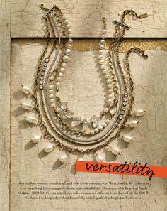 Versatility Necklace | Pearl, Glass Pearl, Swarovski(TM) Crystal, Brass