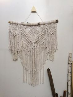 27 Bohemian large macrame wall hanging boho decor by NiromaStudio