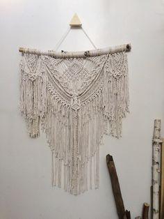 "27"" Bohemian large macrame wall hanging, boho decor, macrame curtain - FREE…"