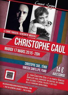 Affiche concert lyrique le 17 mars 2015 à 75015 Paris.