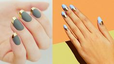 Matte nails are Fall's biggest nail trend for a few years now. It started off with the matte black and has quickly spread to all designs and colors - red, grey, white, blue, etc. When we