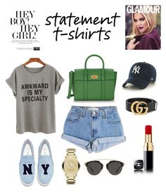 """""""#statement #t-shirts"""" by montseperezp ❤ liked on Polyvore featuring Levi's, Joshua's, Mulberry, Gucci, '47 Brand, Michael Kors and Christian Dior"""