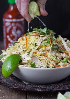 Vietnamese Style Chicken & Cabbage Salad - The Urban Poser