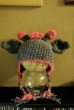 Check out this item in my Etsy shop https://www.etsy.com/listing/114304821/giraffe-hat
