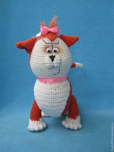 Мастер-класс по вязанию игрушки Матильда - рыжий,кошка игрушка,материалы для творчества