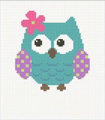 Corner to corner Owl blanket  graph Crochet Corner to Corner (C2C) Graphgan Graphghan