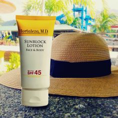 Protect your skin from harmful UV rays with Hortaleza, M.D. Sunscreen Lotion with SPF45 that is ideal for the face and body. Visit any hbc store near you today!  #hbcSummerisBeautiful #HMDBeautifulSummer #summer #sunblock #skinprotection #HortalezaMD #fun #sun