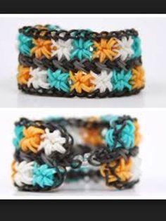 How to make Double starburst Rainbow loom bracelet #rainbowloom