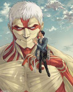 Thank you for protecting me 1/2 | Attack on Titan / Shingeki no Kyojin / AoT / SnK | ReiBert/RaiBeru | Reiner Braun x Bertholdt/Bertolt Fubar/Hoover | Armored Titan & Colossal Titan | Yaoi OTP