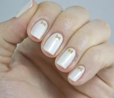 Nail Art, Nail Trends, Nail Designs, White Nails, Bow Nails | NailIt! Magazine @Jessica C. have you tried this?