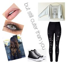 """""""#CuterThanYou"""" by queen-sanja on Polyvore featuring WithChic and Converse"""