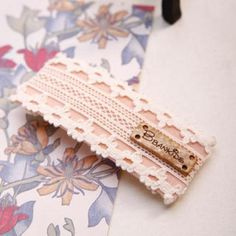 Lace Barrette Beige, Pink - One Size