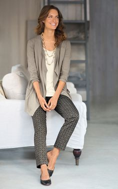 Love this look... so comfy casual.  I could go grocery shopping in this and feel sexy.....J. Jill - Buy This Look