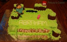 Tres leches minecraft cake with pineapple - coconut! ! Pastel de tres ...