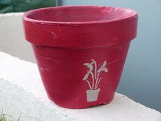 Pot en terre cuite relooké avec la peinture Passion Déco Aluminium ...
