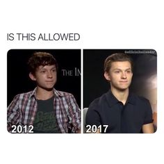 Uhm I did some research and it turns out no no it is not allowed Tom holland does whatever tf he wants and Im okay wit. Funny Marvel Memes, Dc Memes, Marvel Jokes, Funny Memes, Baby Toms, Tom Holland Peter Parker, Tommy Boy, Marvel Actors, Tony Stark